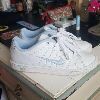 Nike Basketball Shoes White And Sky Blue Uk 4.5