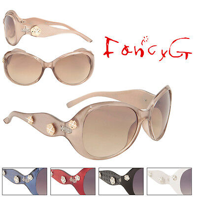 Women Fashion Sunglasses Flowers with Rhinestone UV 400 Protection x 12 Assorted