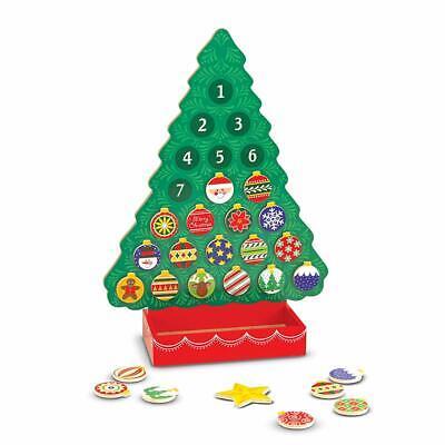 Melissa & Doug Countdown to Christmas Wooden Advent Calendar (Seasonal & Religio