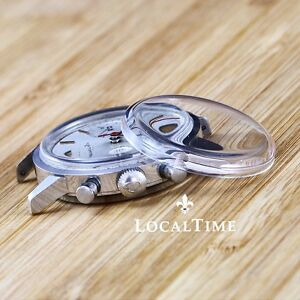 NEW Domed Plexi Glass for BREITLING Top Time Ref. 2000-5.3-5 Chronograph Watches