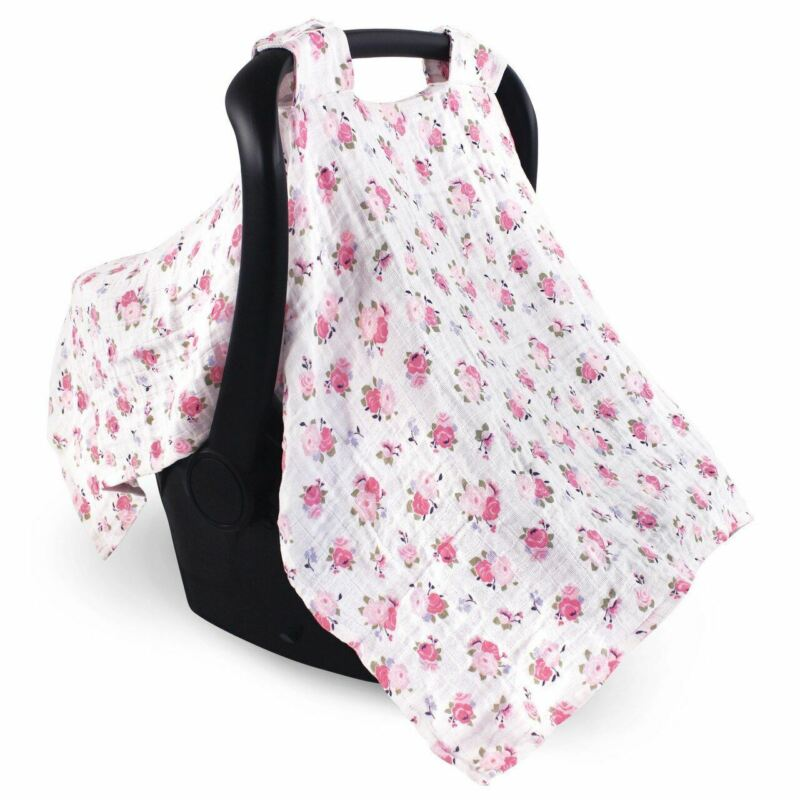 Luvable Friends Girl Muslin Car Seat Canopy, Floral