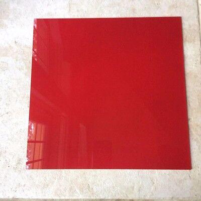 Translucent Red Acrylic Plexiglass 18 Plastic Square 12 Side