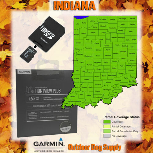 Garmin HuntView Plus Maps-INDIANA-Birdseye Satellite Imagery microSD Card