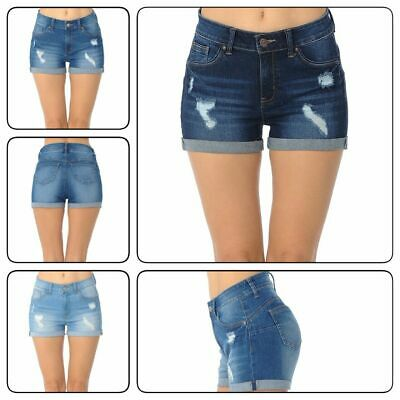 Wax Push Up Shorts True Stretch Jean Short Pants #90151(S-3LX)  Cotton Jean Shorts