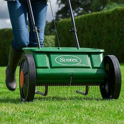 Grass Seed Spreader Weed And Feed Lawn Fertiliser Easy To Use Groundskeeper