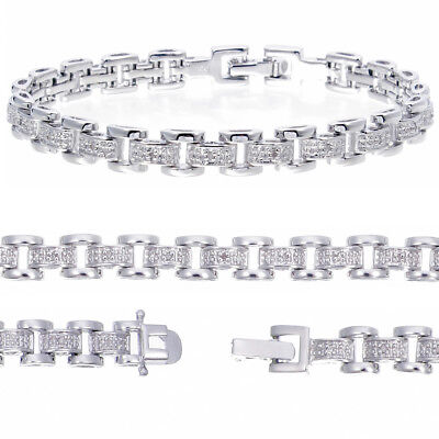 Genuine Diamond Bracelet (0.12 cttw) 7 Inches Length + Over 2,000 Pcs Sold