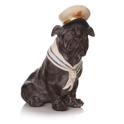 Vintage Antique Bruce British Bulldog Dog Ornament Sculpture Resin Statue