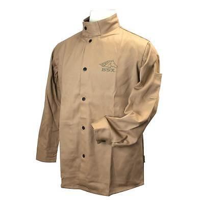 Black Stallion BSX BXTN9C Khaki Fire Resistant Cotton Welding Jacket, 2X-Large