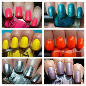 Color-Club-Glitter-Holographic-Neon-and-Pastel-Colours-Nail-Varnish