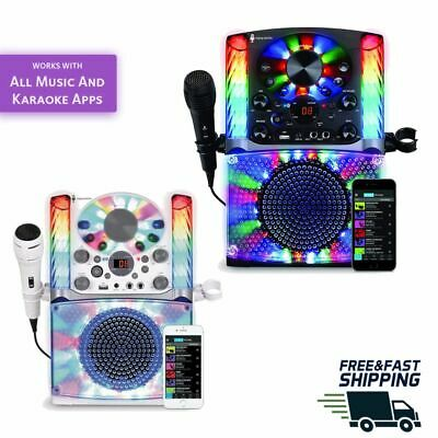 KARAOKE MACHINE SYSTEM Microphone Bluetooth CD/G Audio Singing LED