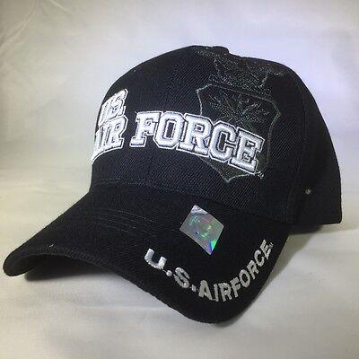 U.S. AIR FORCE Military Black #4 Shield Official Licensed Baseball cap ()