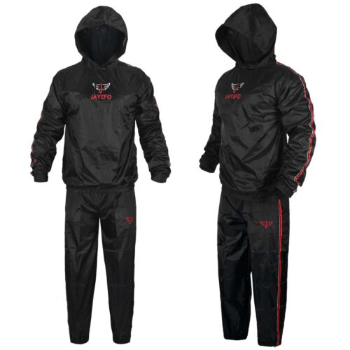 JAYEFO TOUGH SAUNA SUIT SWEAT WEIGHT LOSS FITNESS RUNNING GYM EXERCISE TRAINING