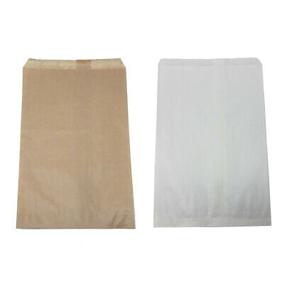 Retail Kraft Paper Bags White Brown 6 X 9 8.5 X 11 12 X 15 Wholesale
