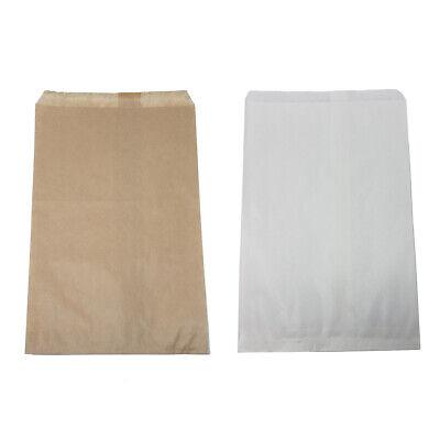 Retail Kraft Paper Bags White Brown 6 X 9 8.5 X 11 12 X 15 Wholesale