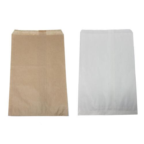 """Retail Kraft Paper Bags, White Brown 6"""" x 9"""" / 8.5"""" X 11"""" / 12"""" X 15"""", Wholesale"""
