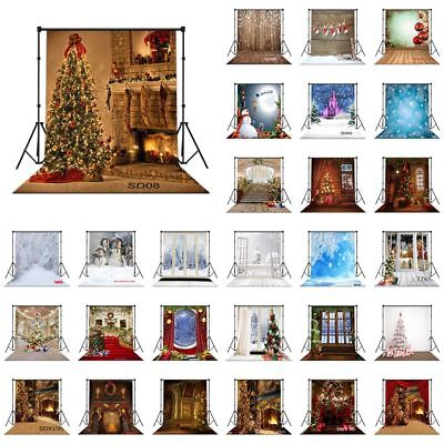 28 Style XMAS Tree Santa Snow 10X10FT CP Vinyl Studio Backdrop Photo Background