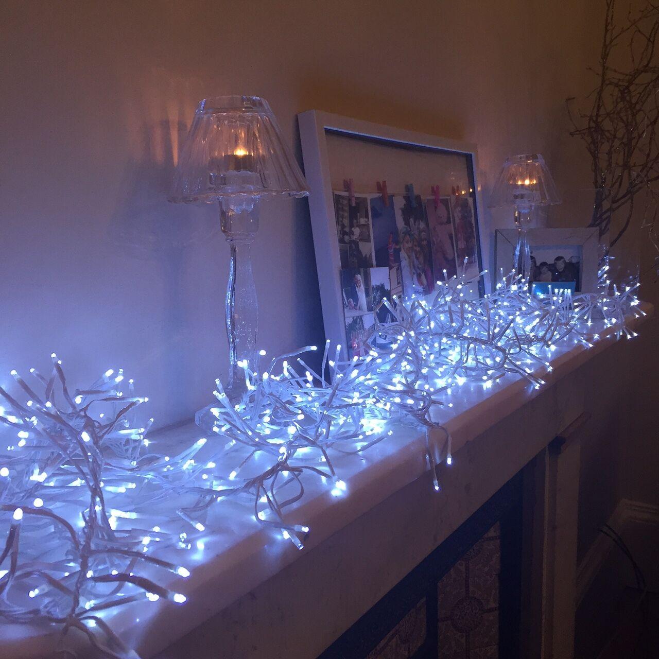 768er led lichterkette cluster weihnachts garten beleuchtung au en lichterkette eur 26 99. Black Bedroom Furniture Sets. Home Design Ideas