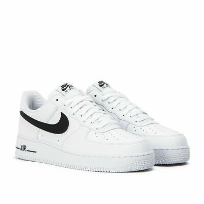 Nike Air Force 1 07 Men's Trainers (UK Sizes 7 - 12) White-Black Brand New