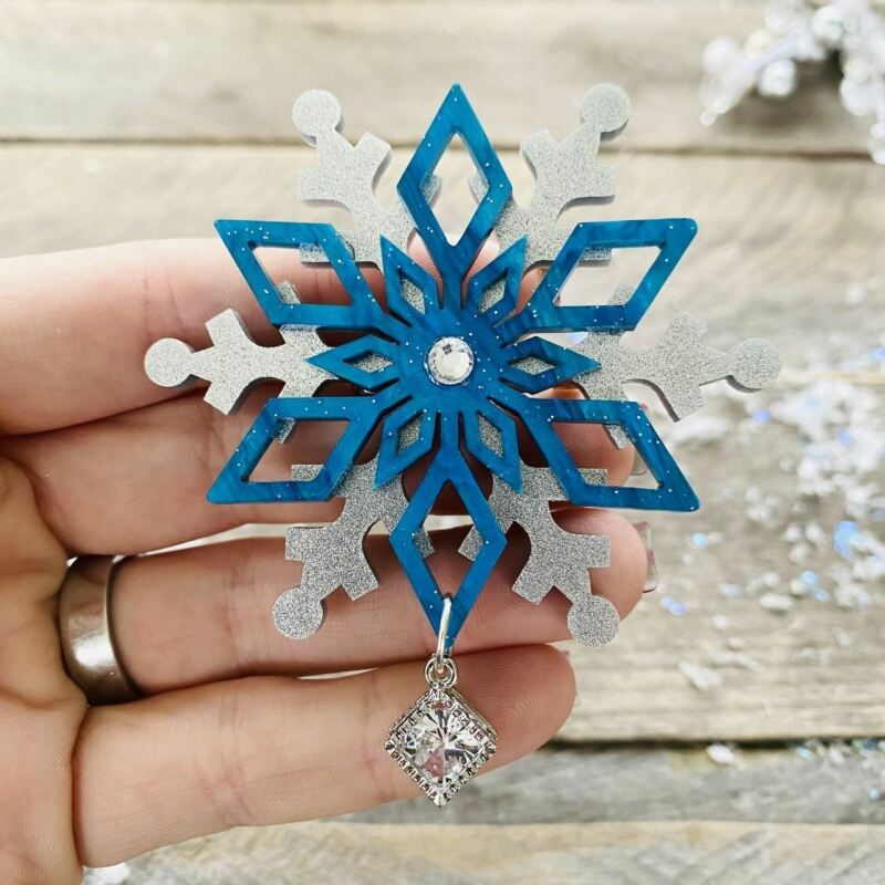 Snowflake Brooch by PolyPaige