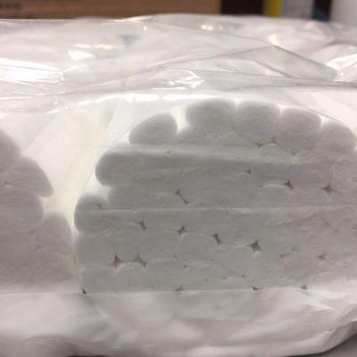500 Plain Wrapped Cotton Rolls 1-1/2