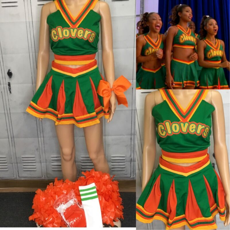 """Real Cheerleading Uniform Bring It On Clovers Adult Top 36"""" Chest Waist 28"""""""