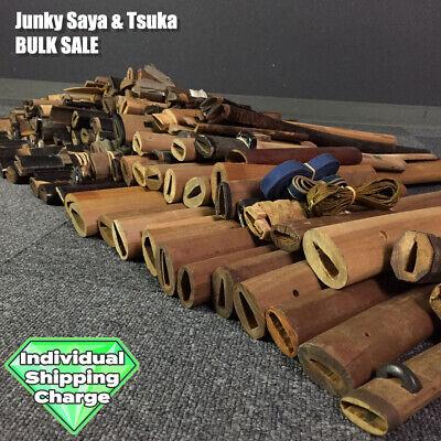 D1394 Japanese Edo Samurai Various JUNKY TSUKA & SAYA large lot Bulk sale katana