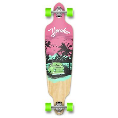 Drop Through Longboard Complete -VW Series - Pink N' Mint (Longboard Series)