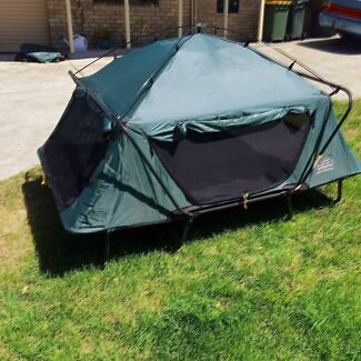 Two Person Tent Cot & BLACKWOLF TURBO TENT 300 PLUS (2 POLE AWNING) | Camping u0026 Hiking ...