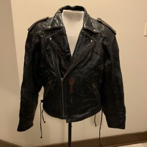 Vintage ira hoss for volcano exotic inlayed leather jacket