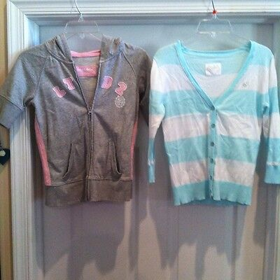 Two Fabulous Justice/Limited Too Sweater and Hooded Sweat Jacket-Both Size 14