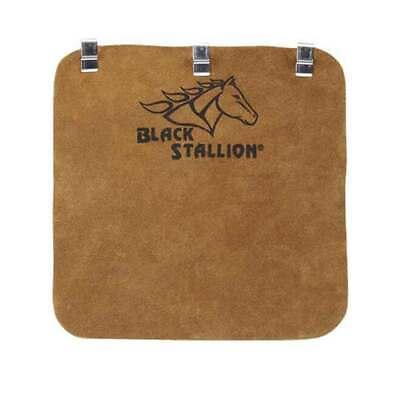 Black Stallion HB Side Split Cowhide Welding Helmet Bib with Metal Clips Leather Helmet Bib