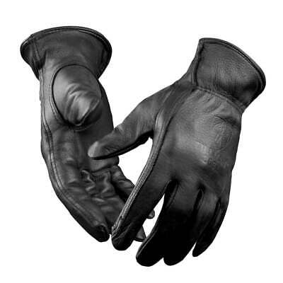 Tillman 866 Premium Black Top Grain Deerskin Drivers Gloves Unlined Medium