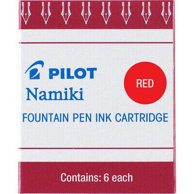 Pilot Namiki Fountain Pen Ink Cartridges Ic-50 - Red - Pack Of 6