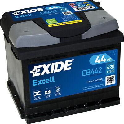 EXIDE EB442 EXCELL Autobatterie Batterie Starterbatterie 12V 44Ah EN420A