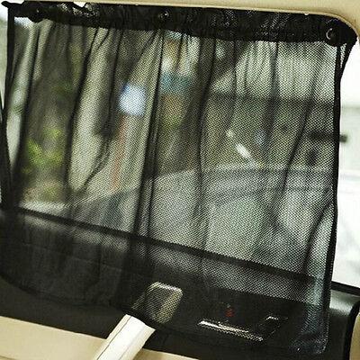 Car UV Protection Side Mesh Window Curtain Sun Shade Block Black Screen