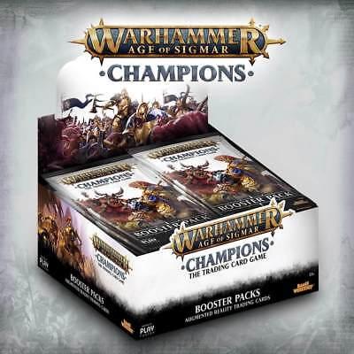 Warhammer Age of Sigmar Champions TCG Sealed Booster Box Display