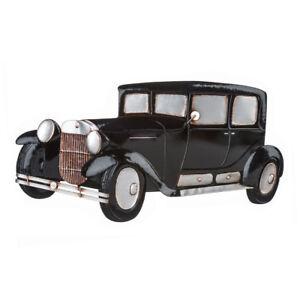 Premier Housewares Retro Car Wall Art, Metal, Vintage Style Decoration