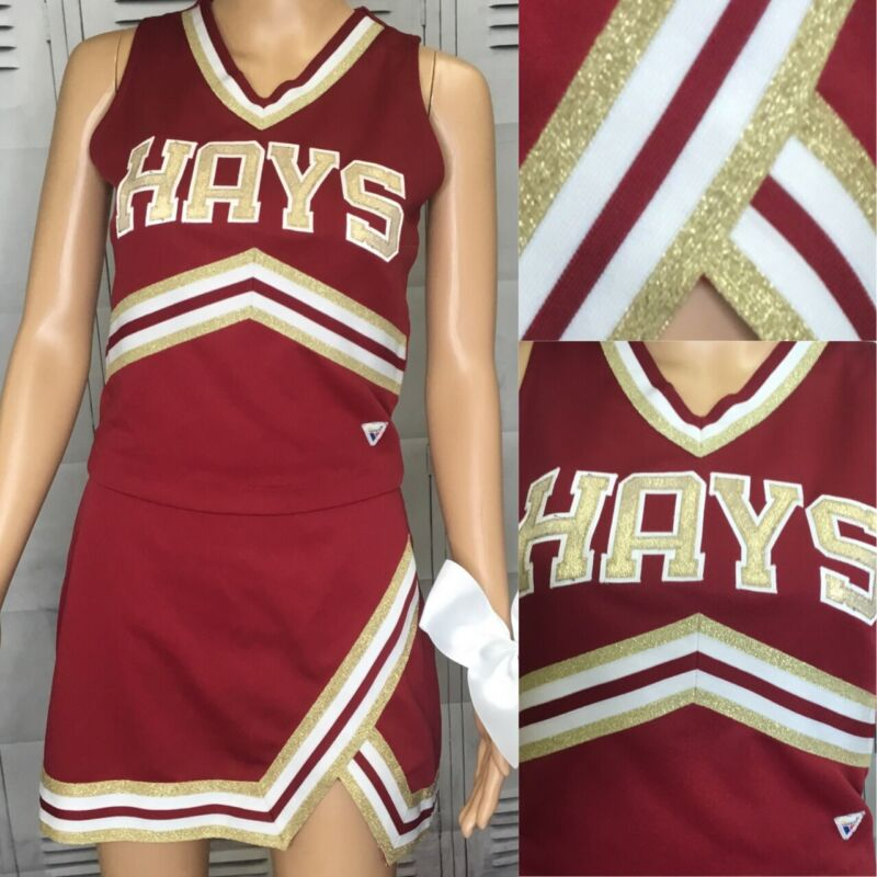 "Real Cheerleading Uniform Top Is 38""Chest Skirt 28-30""Waist"