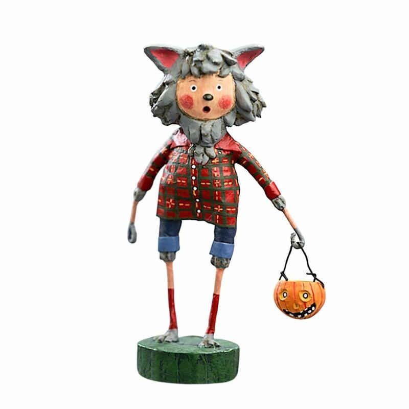 Wolfie Williams Halloween Figurine by Lori Mitchell