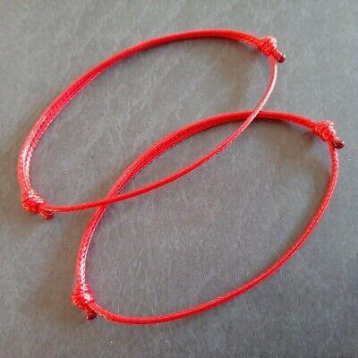 2 x Red Kabbalaha Strings Cords Buddhist Karma Spiritual Bracelets String