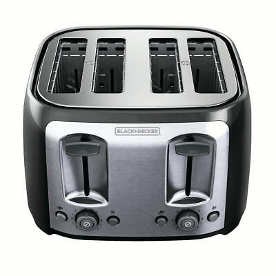 4-Slice Toaster with Accessory-Wide Slots, Black/Silver, BLACK+DECKER TR1478BD