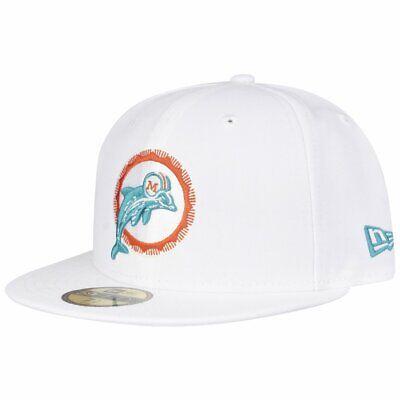 New Era 59Fifty Cap - NFL RETRO Miami Dolphins weiß