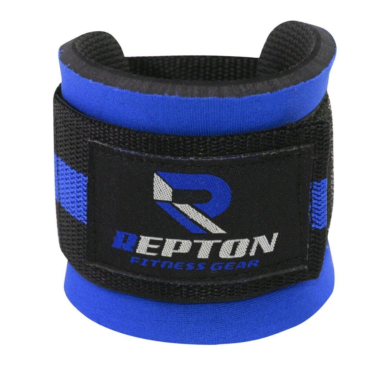 blue ankle strap leg gym cable attachment
