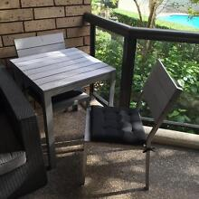 Outdoor dining table + two chairs and cushions Darlinghurst Inner Sydney Preview