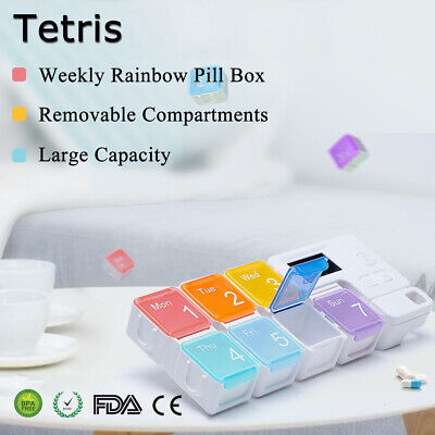 Automatische Medikamenten-dispenser (7/14 Tage Pillendose Medikamentendose Tablettenbox Tablettendose Automatisch Box)