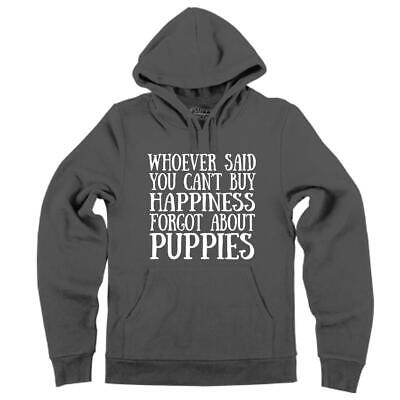 Mens Can't Buy Happiness Puppies Hoodie Happy Puppy Dog Animal Happiness Mens Hoodie