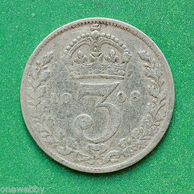 1908 Edward VII Silver Threepence SNo42174