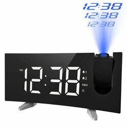 MPOW Digital LED Projector Projection Clock Multifunction FM Radio USB Charging