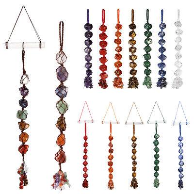 Natural Chakra Gemstone Crystal Suncatcher Hanging Home Car Decor Reiki Healing - Winter Home Decor