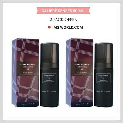 Milton Lloyd Aftershaves Calibre Senses For Men EDT Perfume 50ml GIFT 2